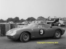 "FERRARI 250LM Ron Fry's car at Mallory c.1966. 10x7"" nice amateur Photo (a)"